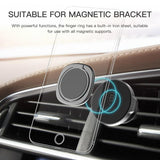 FREE 360 Degree Magnet Finger Ring Holder for Cell Phones, Universal Magnet Car Bracket Phone Stand