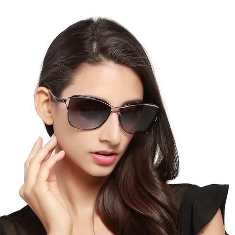 Sexy Women Sunglasses. Good Quality Designer Brand,  Metal Frame, Polarized Fashion glasses