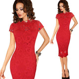 Women's Elegant Sexy Sheath, Lace Pinup Evening Party Special Occasion Bodycon Dress