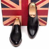 Patent Leather Men's Slip-On Shoe. Designer Fashion Loafers for Business Office, Smart Casual Wear