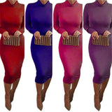 Women's Sexy Turtle Neck Bodycon, Elegant Style Midi Dress