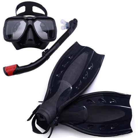 High Quality Snorkel Gear, Scuba Diving Equipment, Mask, Snorkel and Fins, underwater swimming kit.