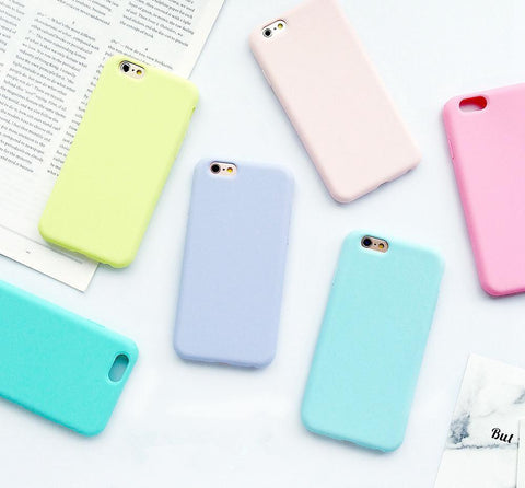 Bright Color TPU Silicone Frosted Matte Case for iPhone 6/6Plus, 6S/6S Plus,  7/7Plus; Soft Cover