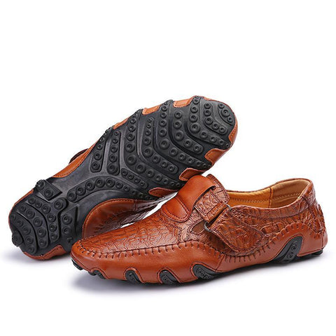 Real Leather Men's Casual Designer Shoe. Comfortable Slip On Loafers, Male Driving Moccasins, Flats