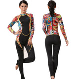 Women Lycra Jumpsuit, Wet-suit for Diving, Surfing and Windsurfing. Full Body Swimsuit