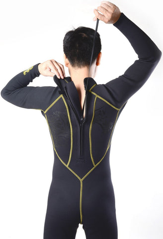 Men Full Body Scuba Diving Wetsuit, 3mm Neoprene suit for Windsurfing, Surfing, Swimsuit, Jumpsuit