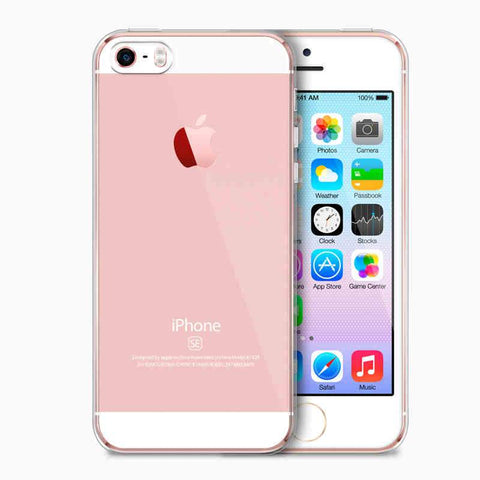 Crystal Clear Silicone Cover, Ultra-Thin Soft TPU Gel Transparent Case for Apple iPhone 5, 5S SE