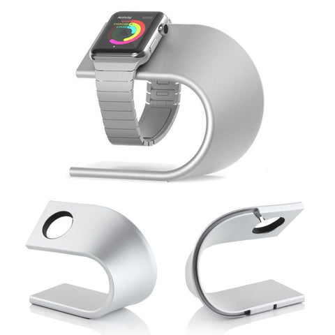 U-Shape Apple Watch Charging Dock Station, Desktop Cradle, Metal Aluminum Alloy Stand