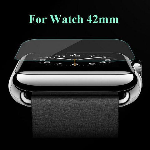 Clear Ultra-Thin Explosion-Proof Tempered Glass Screen for Apple Watch 42, 38mm