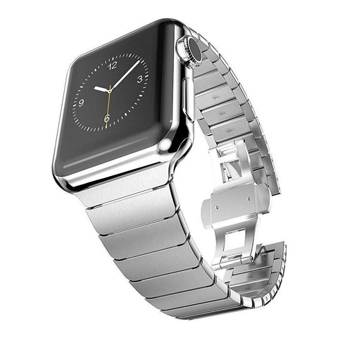 Best Link Bracelet for Apple Watch Series 1&2, 42mm, 38mm, Butterfly Clasp Stainless Steel Strap