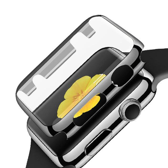 separation shoes 52f5d 89e9e Full Coverage Screen Protector, Bumper for Apple Watch Series 1&2, 38mm,  42mm, Anti-Knock