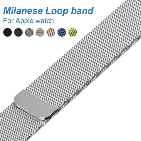 Elegant Milanese Loop for Apple Watch Series 1&2, 42mm, 38mm, High Quality Stainless-Steel Strap