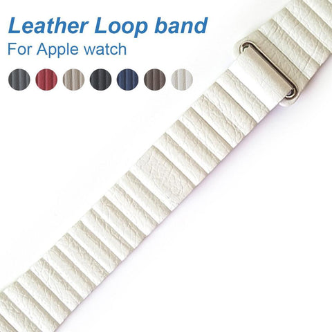 Trendy Imitation Leather Loop Strap for Apple Watch Series 1&2, 42mm, 38mm, Magnetic Closure