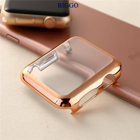 Quality PC Gold Plated Protective Apple Watch Cover 38mm, 42mm