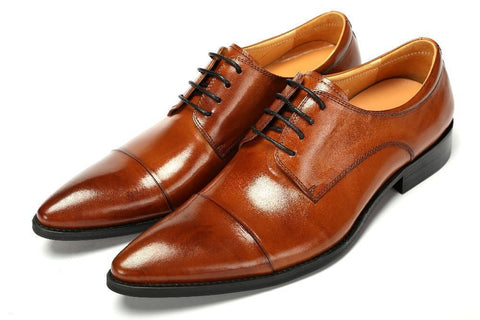 Men's Patent Leather Derby Dress Shoe, for Wedding, Office and Parties, Designer Fashion Flats