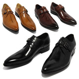 Genuine Leather Men's Oxford Shoe. Designer Pointed-Toe Formal Shoe for Business, Parties & weddings