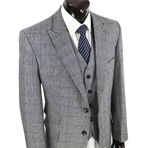 Men's Quality Woolen Tweed Suit. Formal Wear, Tailor Custom Made 3 Piece Suits