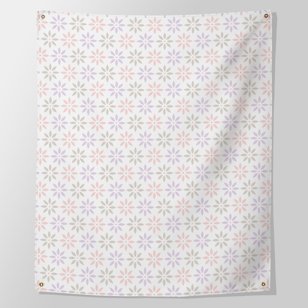 daisy chain pastel wall tapestry