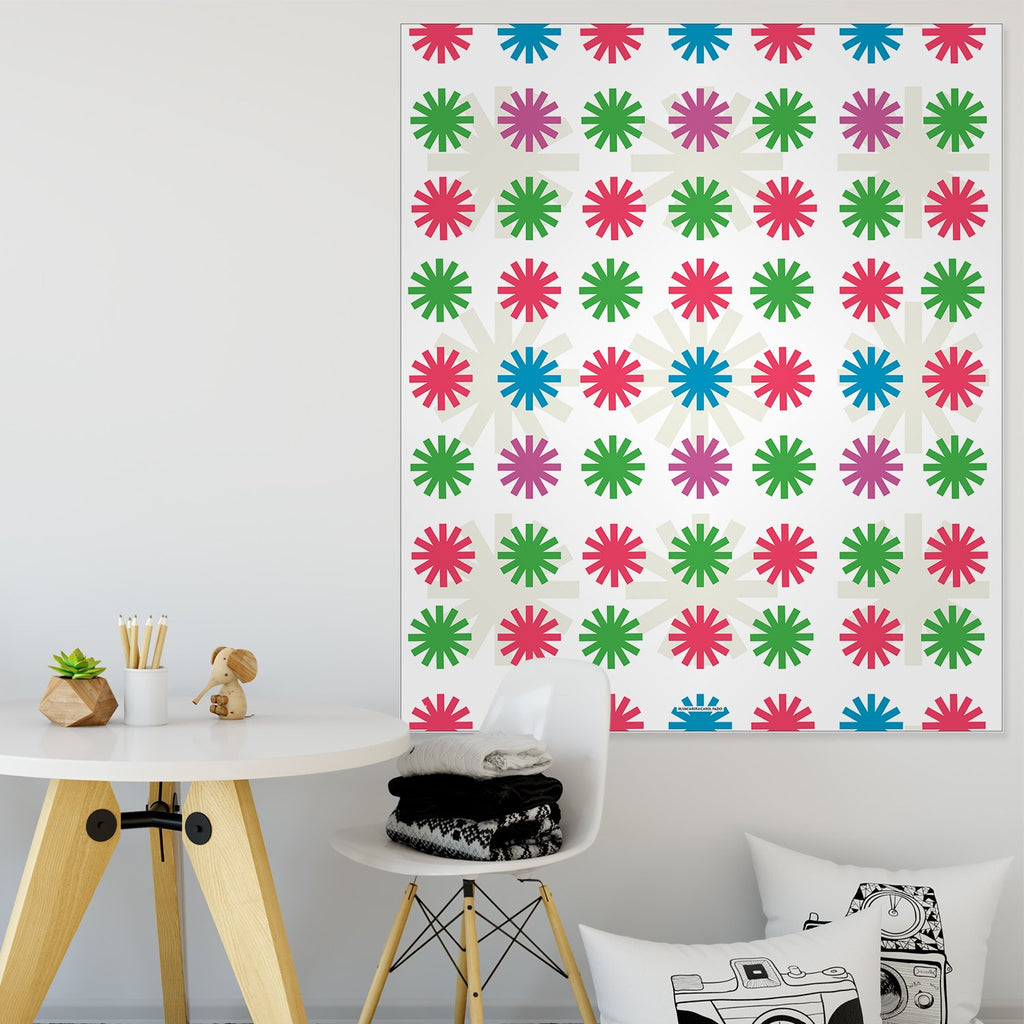 Colored Lights Holiday Wall Tapestry
