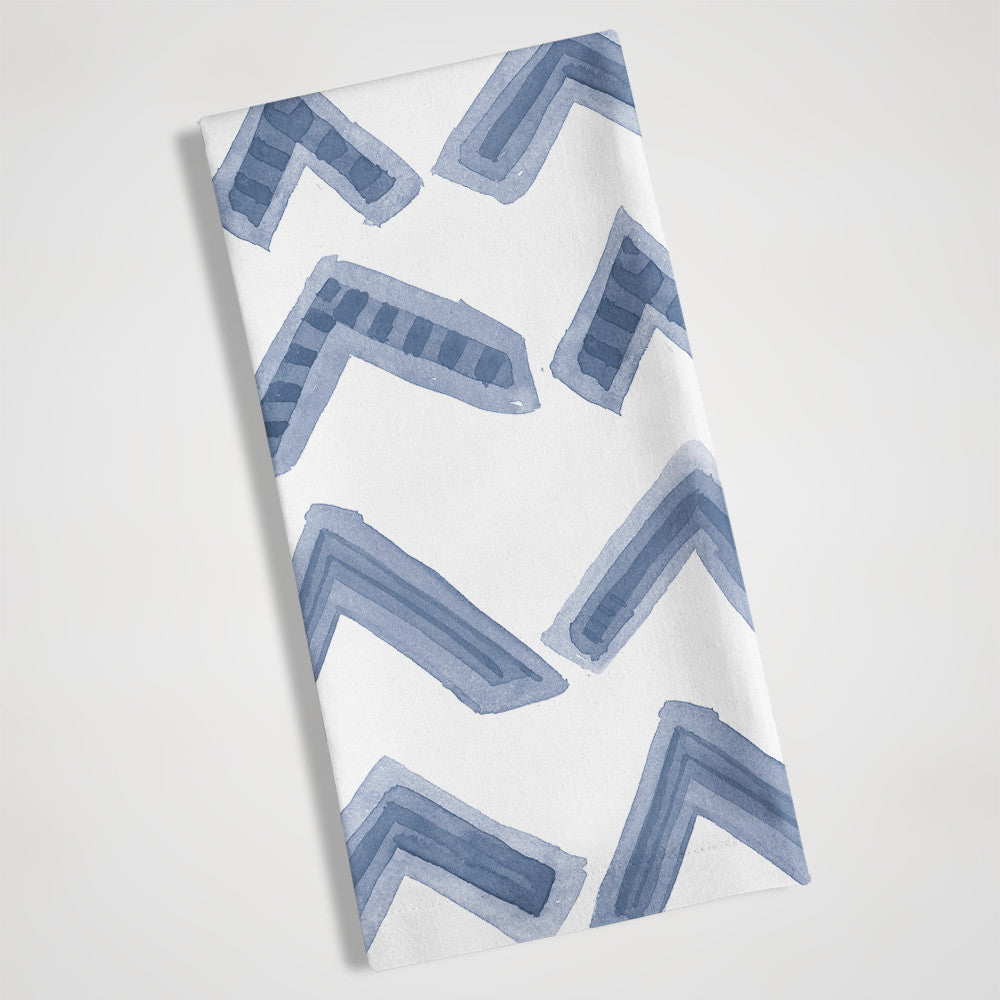 Blue Chevron Pattern folded view