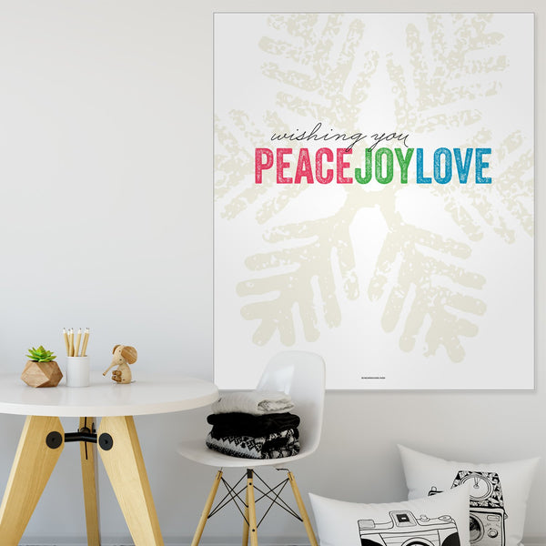 Peace Joy Love Holiday Wall Tapestry