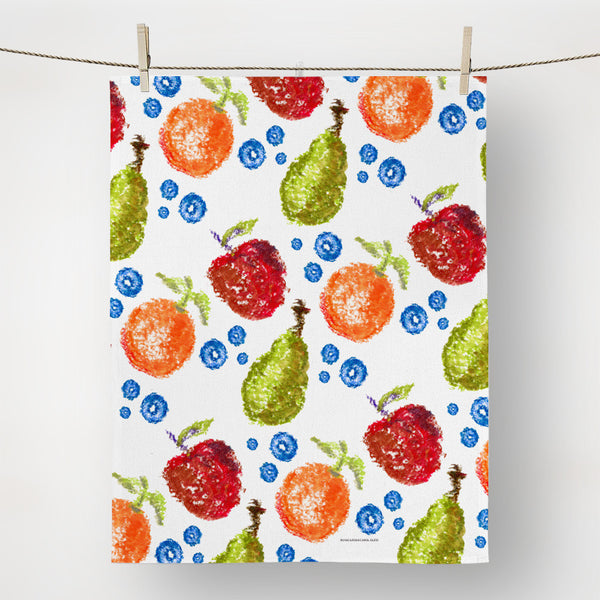 hand painted fruit dish towel