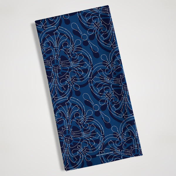 blue bandanna style kitchen towel