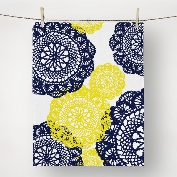 Blue and Yellow Doilies