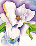 Magnolia Watercolor Original Painting from Mississippi, 8 x 10 Flower artwork, Magnolia wall art, watercolors paintings original floral