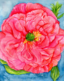 Peony painting//Pink Peony Watercolors Paintings Original// 8 x 10  original watercolor painting// pink peony// peony wall art// peony decor