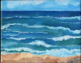 Aruba painting, Aruba Seascape painting ocean art, Horizontal 10 x 8, Beach painting, art acrylic painting canvas art, Aruba wall art