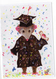 Funny graduation card, Happy Graduation Card Are you proud of your Opossum graduate - Possum Greeting Card Print from my original watercolor