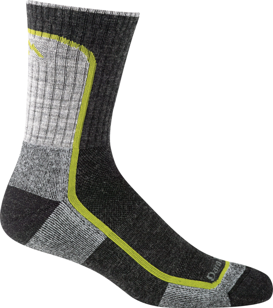 Darn Tough Socks Men's Hiker 1913 Charcoal Lime