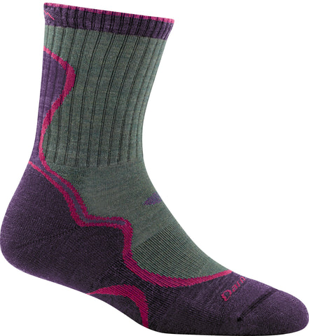 Darn Tough Socks Ladies Hiker 1932 Moss Eggplant