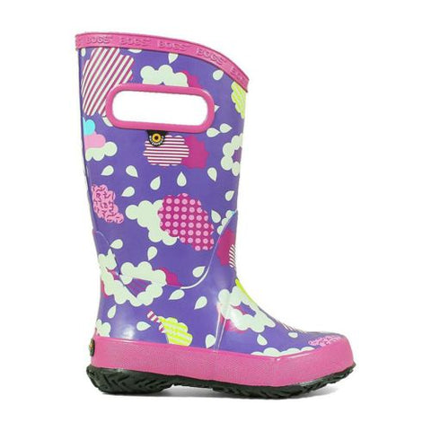 Kids Bogs RainBoots Clouds Violet