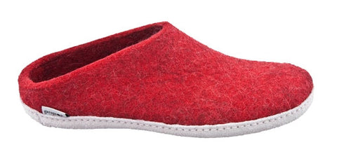 Glerups Ladies Slipper Red