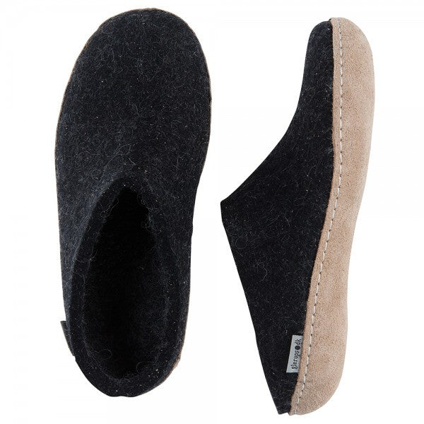 Glerups Ladies Slipper Charcoal
