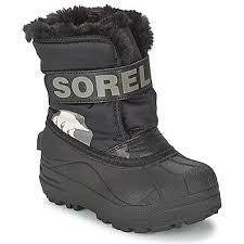 Kids Sorel Snow Commander Black Charcoal