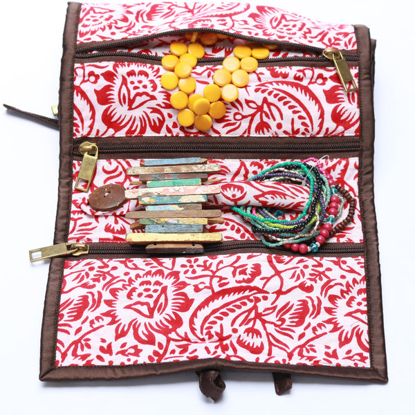 Silk Chobi Jewellery Roll | Potch | Ethical, Fairtrade, Local