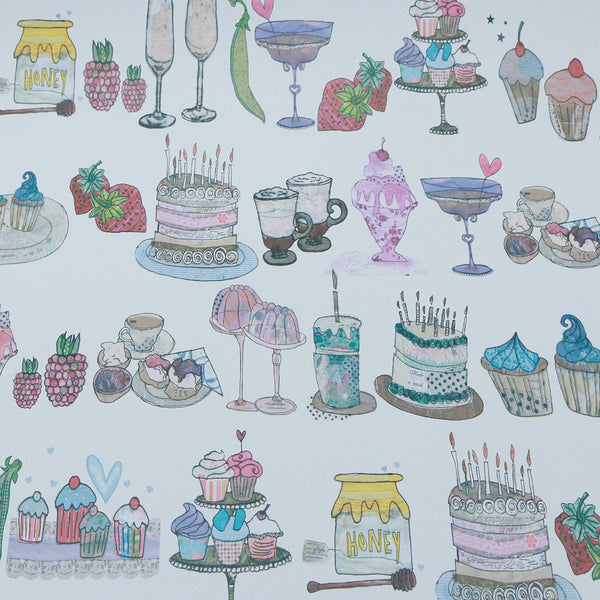 Wrapping Paper 100% Recycled (3x Sheets) : Yummy Sheet | Potch | Ethical, Fairtrade or Local