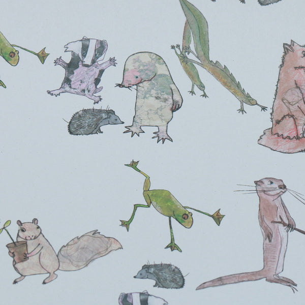 Wrapping Paper 100% Recycled (3x Sheets) : Wild Outdoors | Potch | Ethical, Fairtrade or Local
