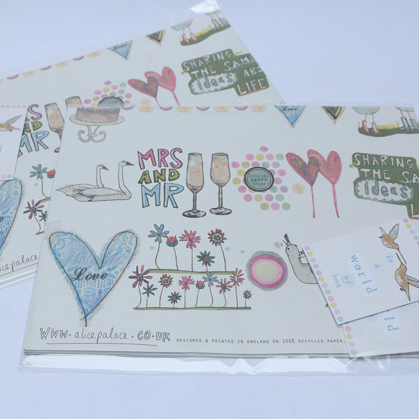 Wedding & Engagement Giftwrap Pack | Potch | Ethical, Fairtrade or Local