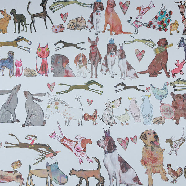 Wrapping Paper 100% Recycled (3x Sheets) : Perfect Pets | Potch | Ethical, Fairtrade or Local