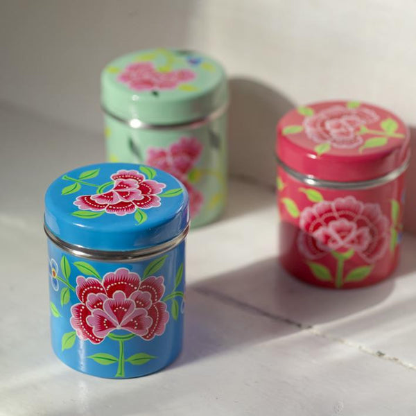 Franjipani Floral Tin | Potch | Ethical, Fairtrade, Local