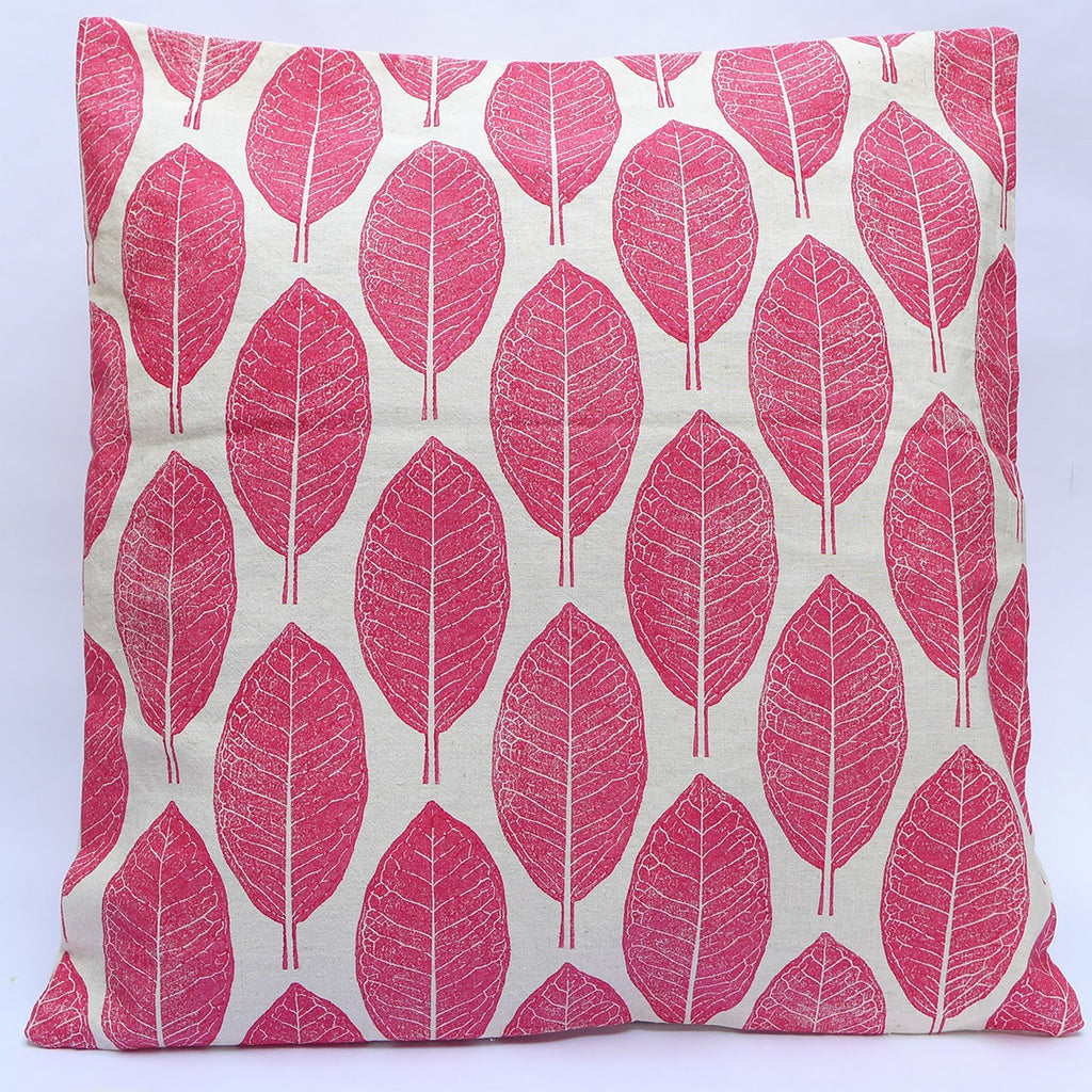 Block Printed Cushion Covers : Borage Leaves | potch | ethical, fairtrade or local
