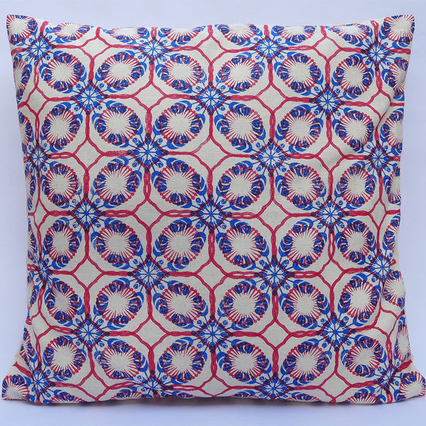 Block Printed Cushion Cover: Spearmint | potch | ethical, fairtrade or local
