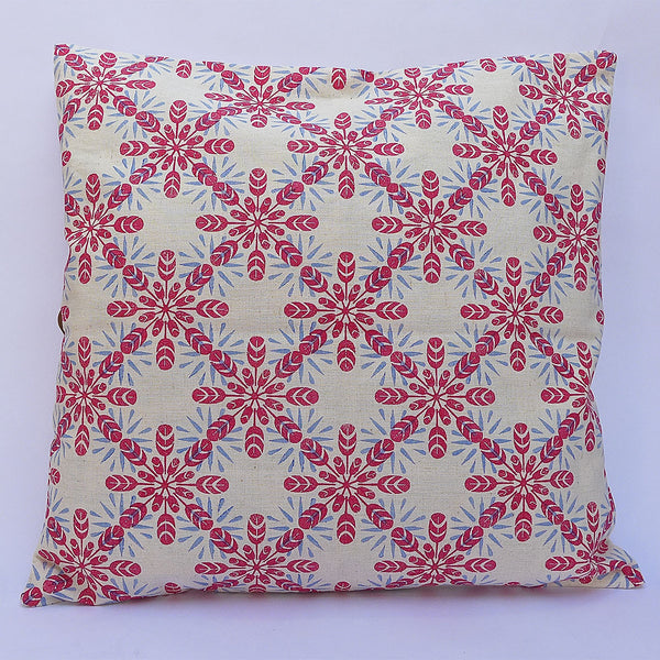 Block Printed Cushion Cover: Cinnamon | potch | ethical, fairtrade or local