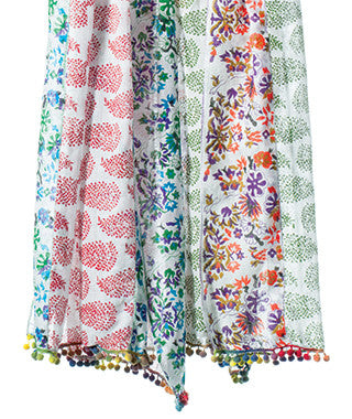 Hand Printed Cotton scarves | potch | ethical, fairtrade or local