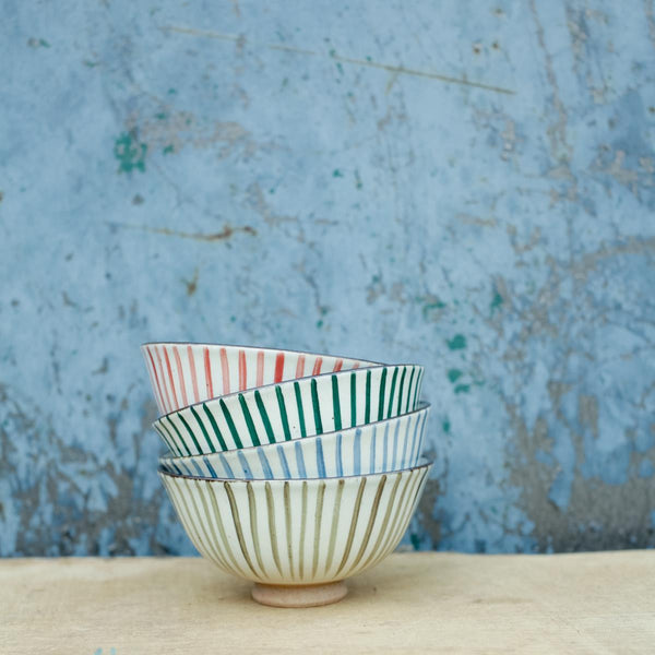 Uka Stripe Nibble Bowl | Potch | Ethical, Fairtrade, Local