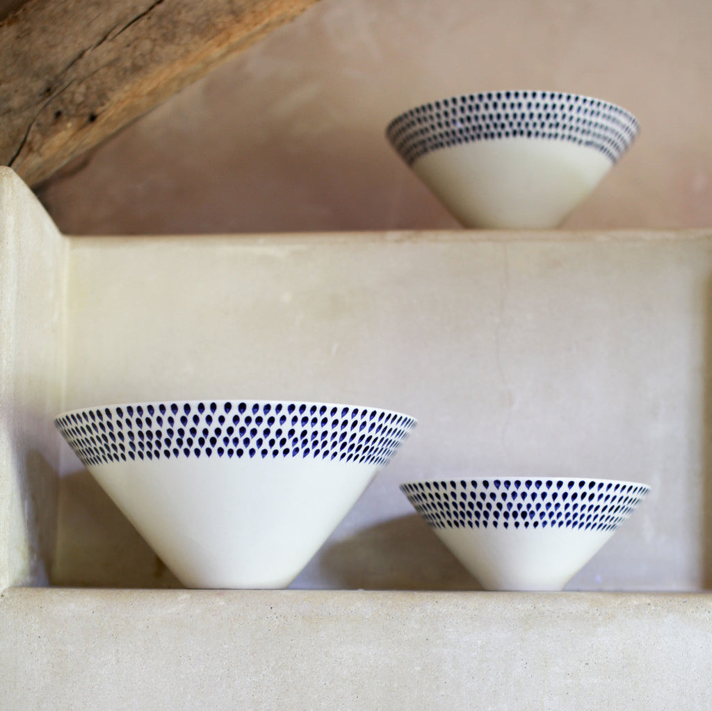 Indigo Drop Serving Bowl | Potch | Ethical, Fairtrade, Local